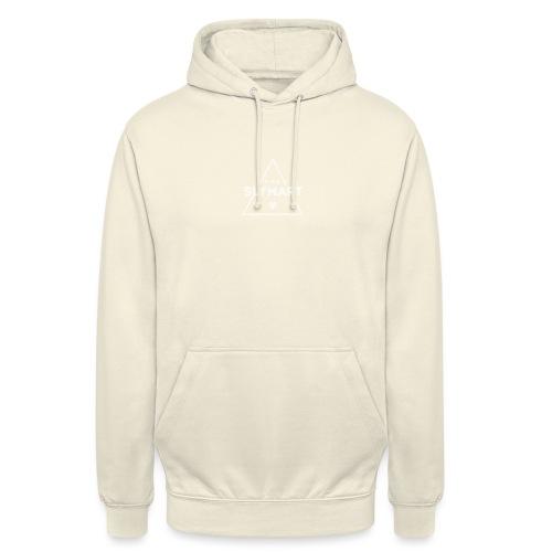 Slymart blanc - Sweat-shirt à capuche unisexe