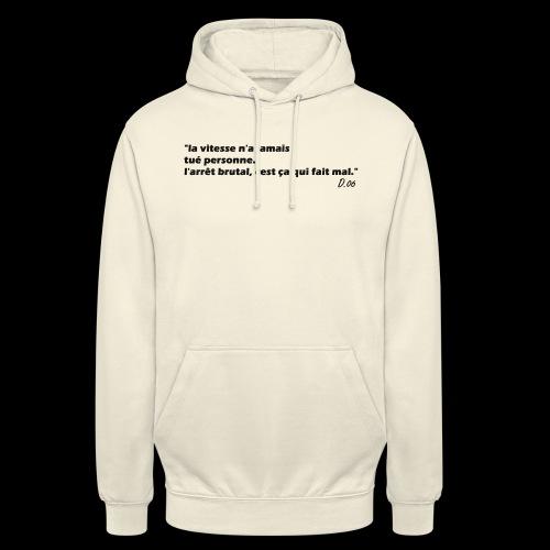 vitesse (noir) - Sweat-shirt à capuche unisexe