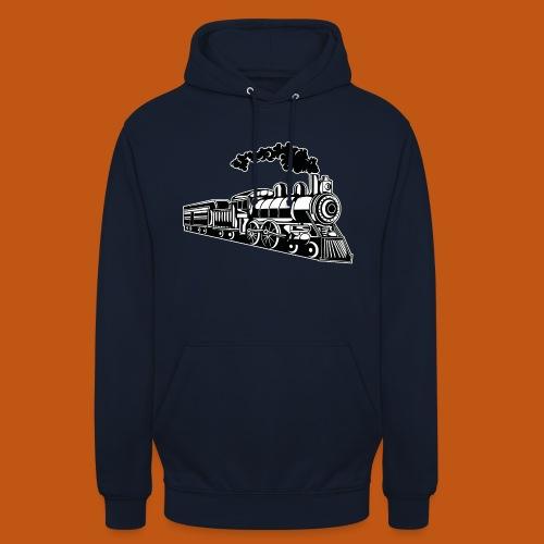 Lokomotive / Locomotive 02_schwarz weiß - Unisex Hoodie