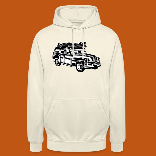 Chevy Cadilac Woodie / Oldtimer Kombi 01_sw - Unisex Hoodie