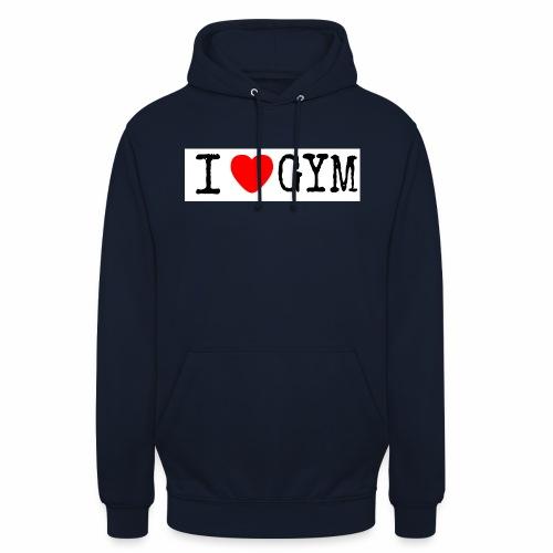 LOVE GYM - Felpa con cappuccio unisex