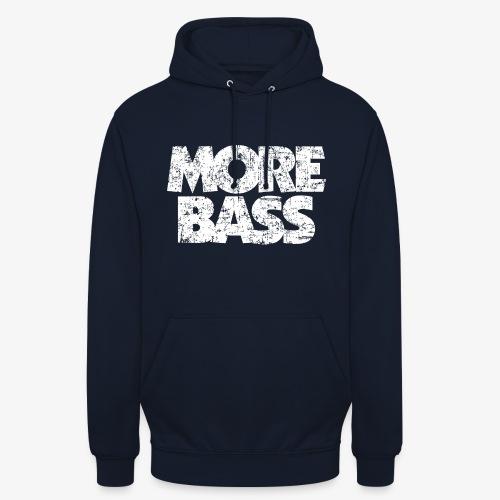 More Bass (Vintage/Weiß) Bassist Bassisten - Unisex Hoodie