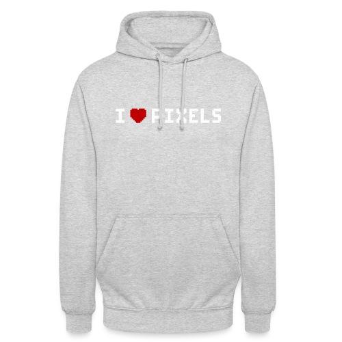 I Love Pixels - Hættetrøje unisex