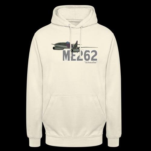 Me 262 Schwalbe (writing) - Felpa con cappuccio unisex