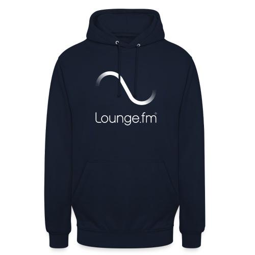 loungefm logo weiss - Unisex Hoodie