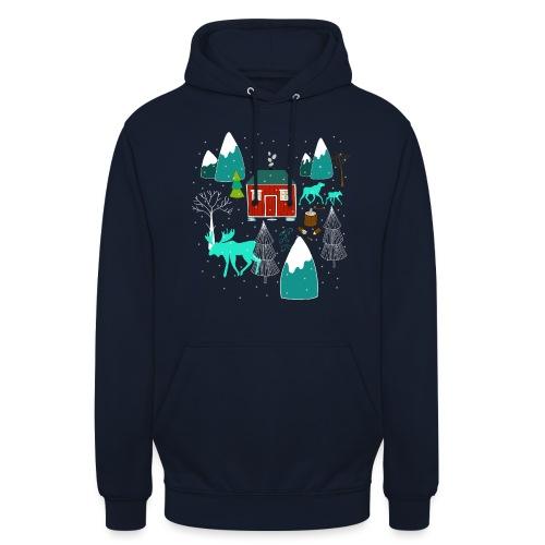 Weihnachten Elch I Geschenk Winterstimmung - Unisex Hoodie