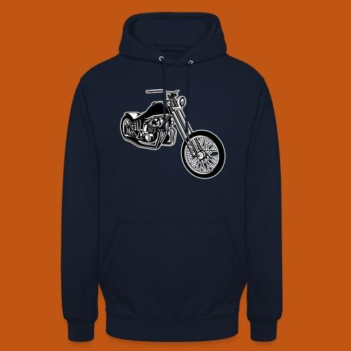 Chopper / Bobber Motorrad 01_schwarz weiß - Unisex Hoodie