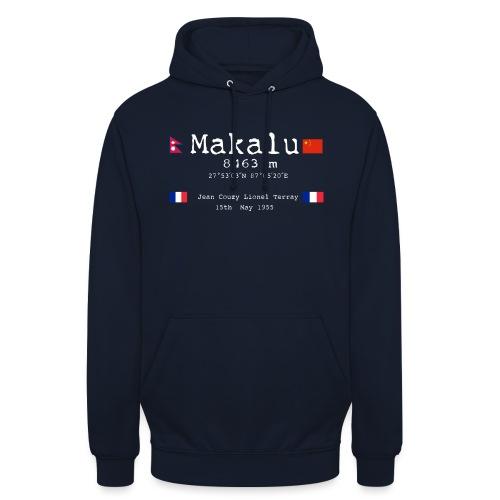 Makaluwhite - Felpa con cappuccio unisex