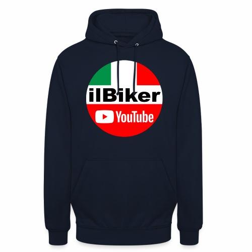 ilBiker - Logo tondo - Felpa con cappuccio unisex