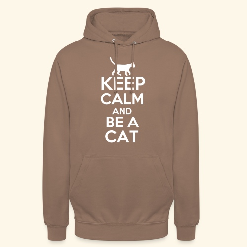 Keep Calm Katzen T-Shirt Englisch - Unisex Hoodie