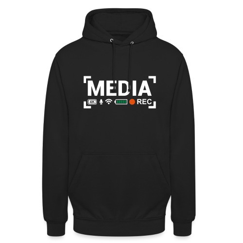 MEDIA Crew - Felpa con cappuccio unisex