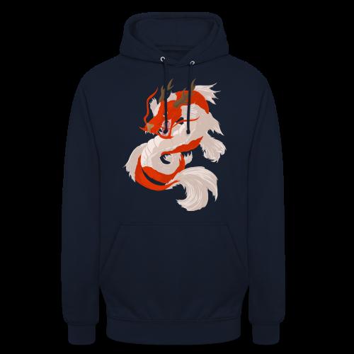 Dragon koi - Felpa con cappuccio unisex
