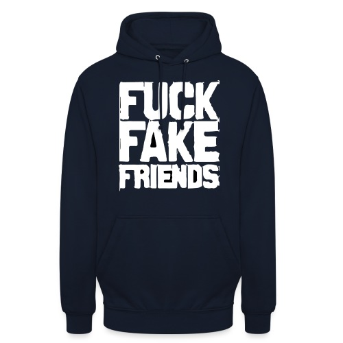 FUCK FAKE FRIENDS - Bluza z kapturem typu unisex