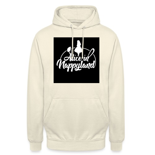 Alice in Nappyland TypographyWhite 1080 - Unisex Hoodie