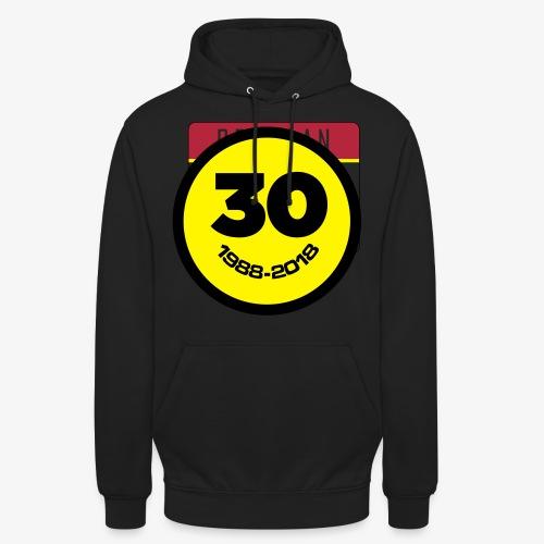 30 Jaar Belgian New Beat Smiley - Hoodie unisex