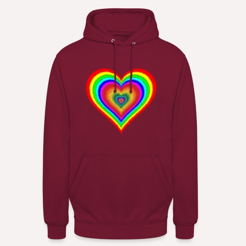 Heart In Hearts Print Design on T-shirt Apparel - Unisex Hoodie
