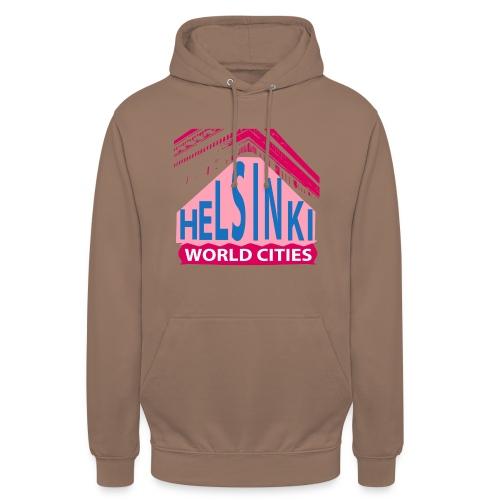 Helsinki2 pink blue - Unisex Hoodie