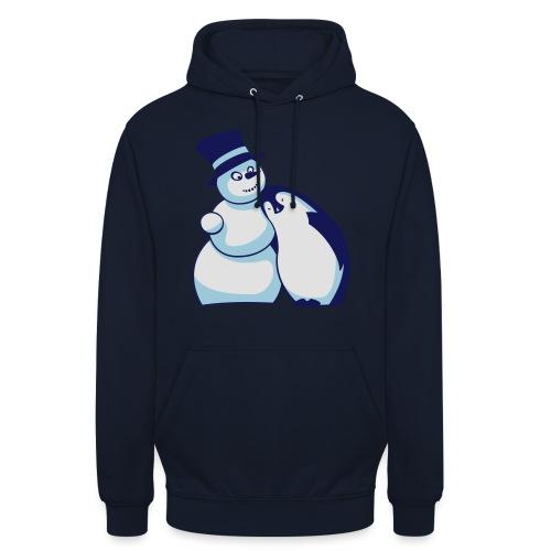 Schneemann und Pinguin - Unisex Hoodie