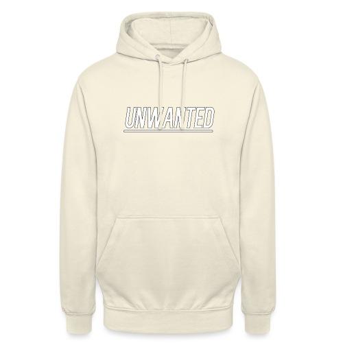UNWANTED Logo Tee White - Unisex Hoodie