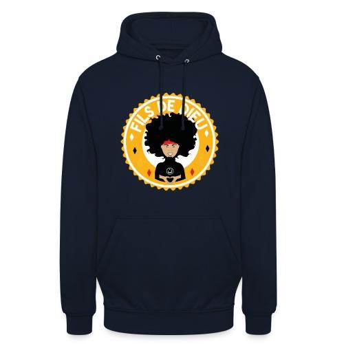 Fils de Dieu jaune - Sweat-shirt à capuche unisexe