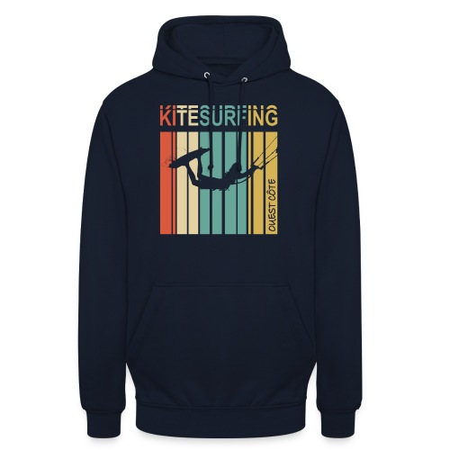 Kitesurfing Ouest Côte - Sweat-shirt à capuche unisexe