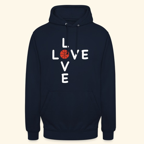 LOVE Cross basketball red 001 - Unisex Hoodie