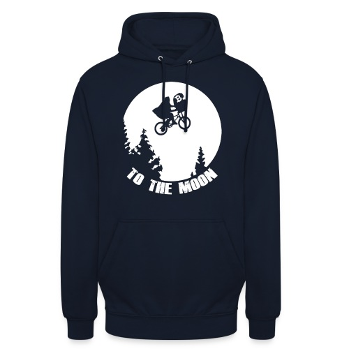 to the moon,bitcoin - Hoodie unisex