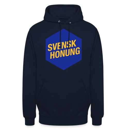 Svensk honung Hexagon Blå/Gul - Luvtröja unisex