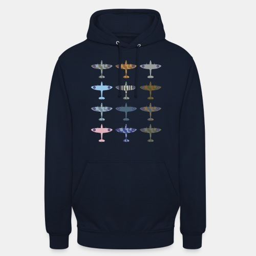 Spitfire fighter plane / camouflage pattern - Unisex Hoodie