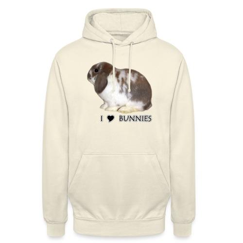 """I Love Bunnies Luppis - Huppari """"unisex"""""""