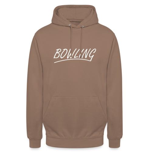 Bowling souligné - Sweat-shirt à capuche unisexe
