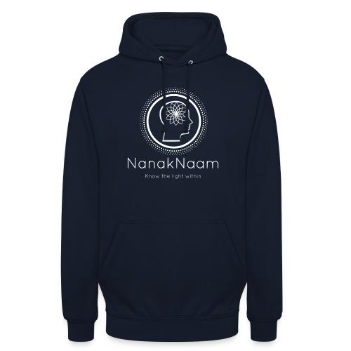 Nanak Naam Logo and Name - White - Unisex Hoodie