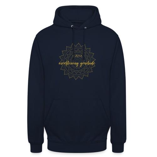 I am oveerflowing gratitude gold mandala - Unisex Hoodie