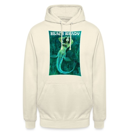 Vintage Pin-up Beach Ready Mermaid - Unisex Hoodie