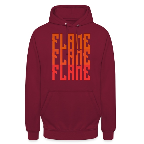 maglietta_flame_flame_flame - Felpa con cappuccio unisex