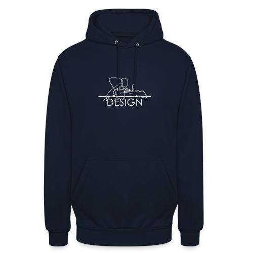 sasealey design logo wht png - Unisex Hoodie