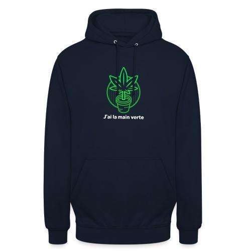 main verte - Sweat-shirt à capuche unisexe