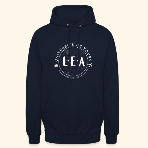 L.E.A Blanc - Sweat-shirt à capuche unisexe