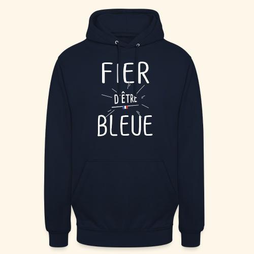 Football féminin Fier d'être bleue - Homme - Sweat-shirt à capuche unisexe