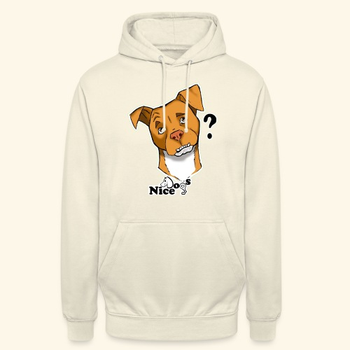 Nice Dogs pitbull 2 - Felpa con cappuccio unisex