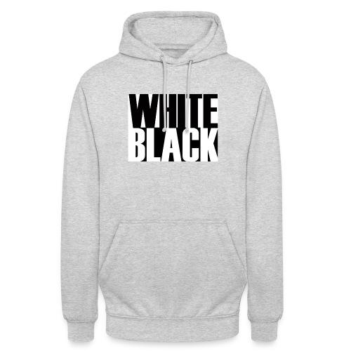 White, Black T-shirt - Hoodie unisex