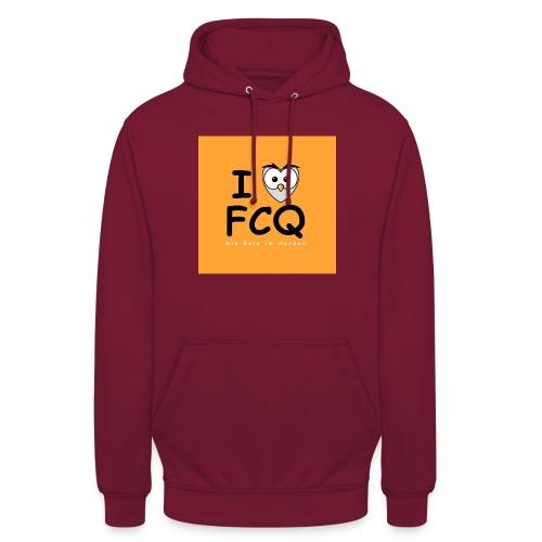 I Love FCQ button orange - Unisex Hoodie