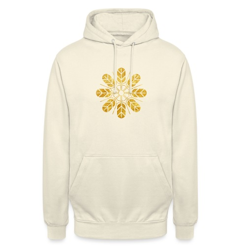 Inoue clan kamon in gold - Unisex Hoodie