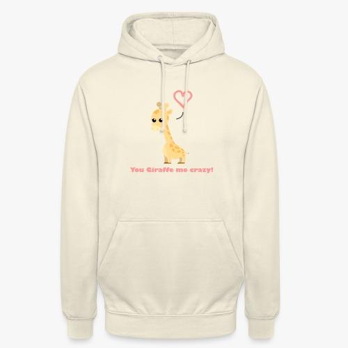 Giraffe Me Crazy - Hættetrøje unisex