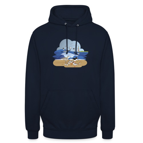 See... birds on the shore - Unisex Hoodie