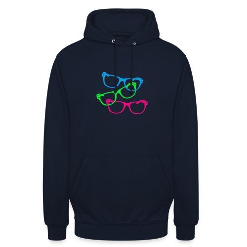 lunettes - Sweat-shirt à capuche unisexe