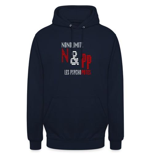 NePP noir - Sweat-shirt à capuche unisexe