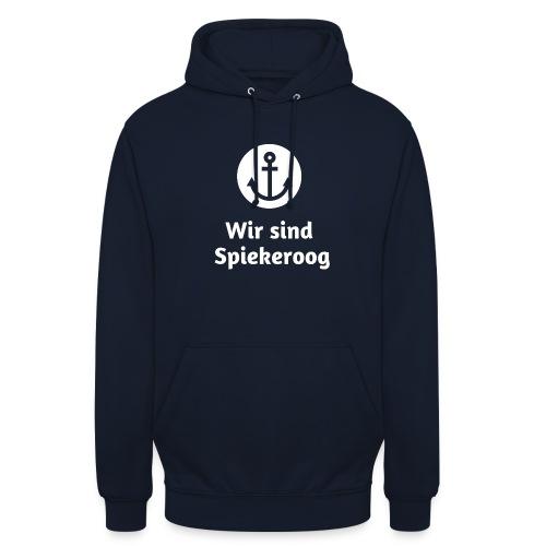 Wir sind Spiekeroog Logo weiss - Unisex Hoodie