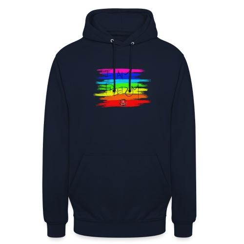I AM FREEDOM MaitriYoga - Sweat-shirt à capuche unisexe