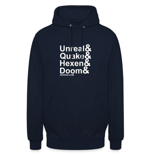 Unreal&Quake&Hexen&Doom - Sweat-shirt à capuche unisexe